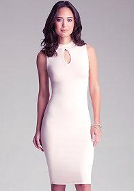 bebe   Embellished Neckline Dress - View All