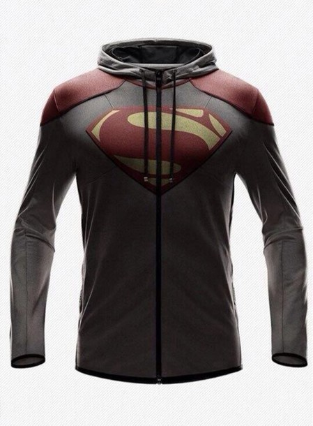 sweater grey superman hoodie supermanlogo logo