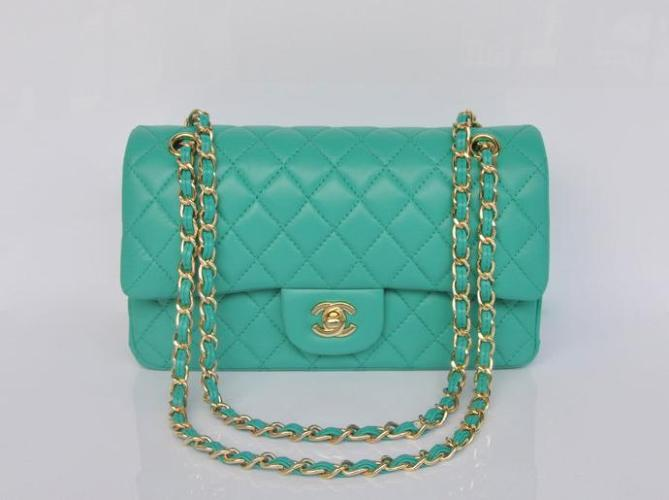 Chanel 2.55 Series Lambskin Flap Bag 1112 Light Green Golden [aachanel2119] - $189.00 : Luxury365.org