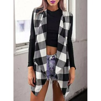 cardigan plaid fashion style long sleeves stylish women's long sleeve plaid splicing turn-down collar jacket sexy casual trendy fall outfits