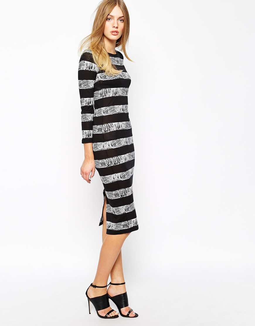 French connection midi dress in crayon stripe at asos.com