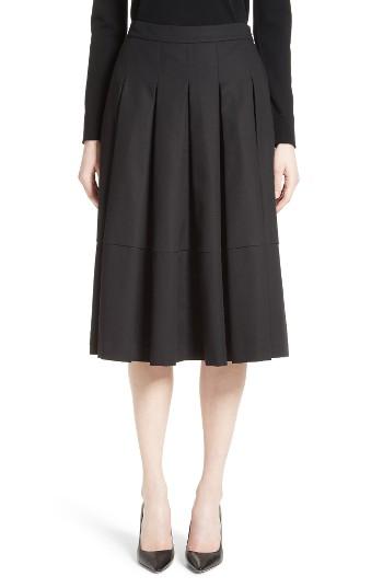 Co Gabardine Pleated Skirt | Nordstrom