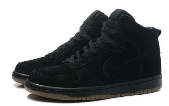 shoes high top sneaker high tops nikes nike dunk black nike dunk suede jasmine villegas jasmine v black nikes high top nikes