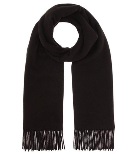 Acne Studios Canada New wool scarf in black