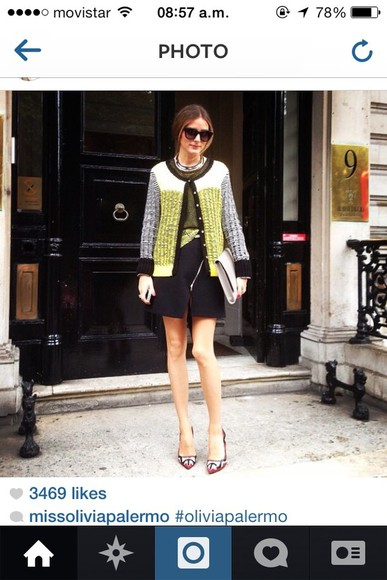 blouse olivia palermo coat skirt shoes sunglasses