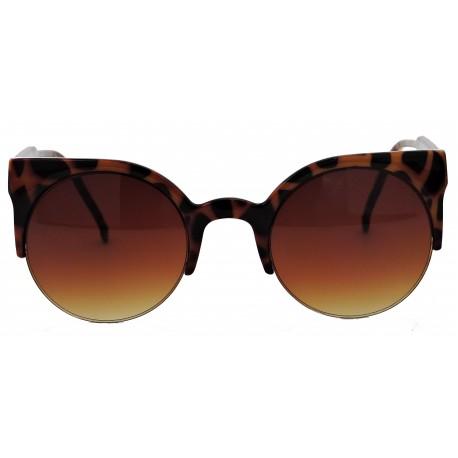 Half Frame Round Cat Eye SunglassHolic - Sunglass Holic