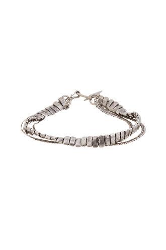 flat silver accessories menswear antiqued chain bracelets jewels