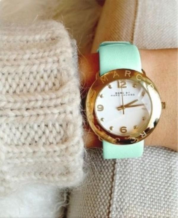 jewels watch mint gold