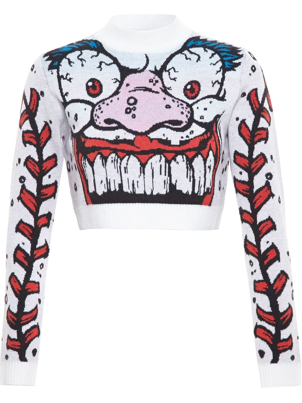 Jeremy Scott Cropped Monster Knit - Browns - Farfetch.com