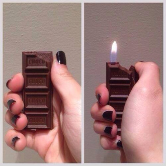 chocolate lighter jewels earphones smoke smokey nail accessories cool