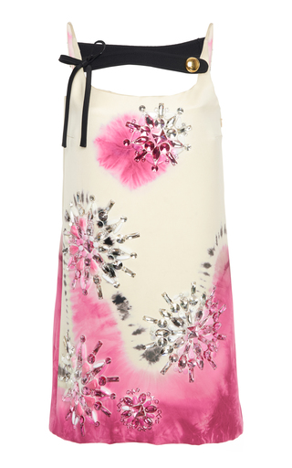 Embellished Tie-Dye Silk-Satin Mini Dress by Prada | Moda Operandi