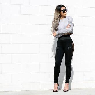 leggings maniere de voir mesh sideless waist