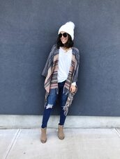 mrscasual,blogger,t-shirt,shoes,jeans,hat,jewels,sunglasses,beanie,winter outfits,ankle boots