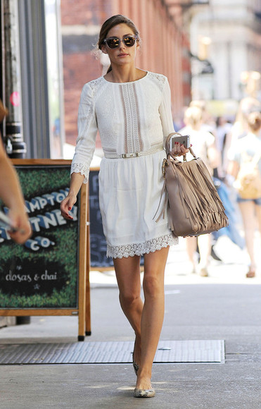 dress olivia palermo white dress