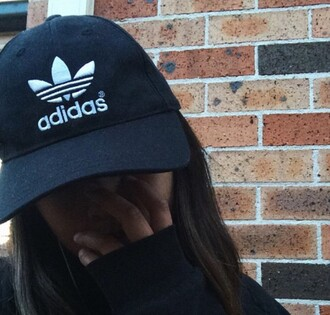 hat black adidas tumblr cap
