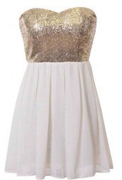 dress,white and gold