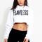 Flawless crop hoodie - white – klassiq