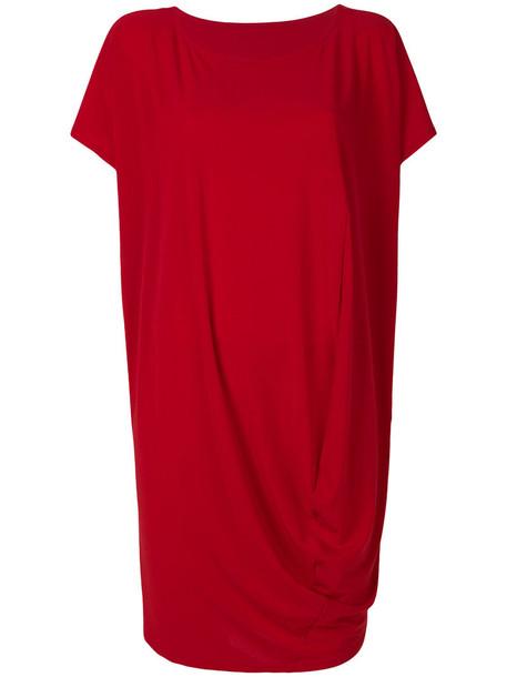 Issey Miyake dress midi dress women midi draped red