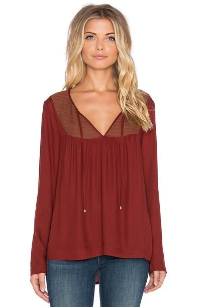 Ella Moss blouse red