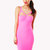 Daysi Cut Out Bodycon Dress in Pink at Fashion Union