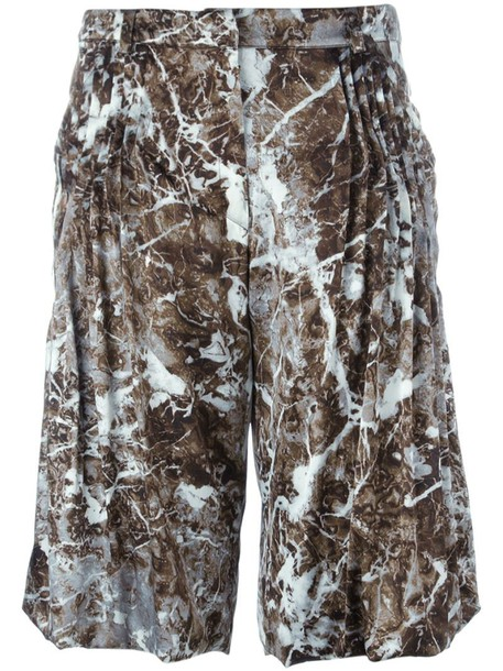 Christian Wijnants shorts women spandex silk grey