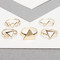 Multi triangle ring set - gold