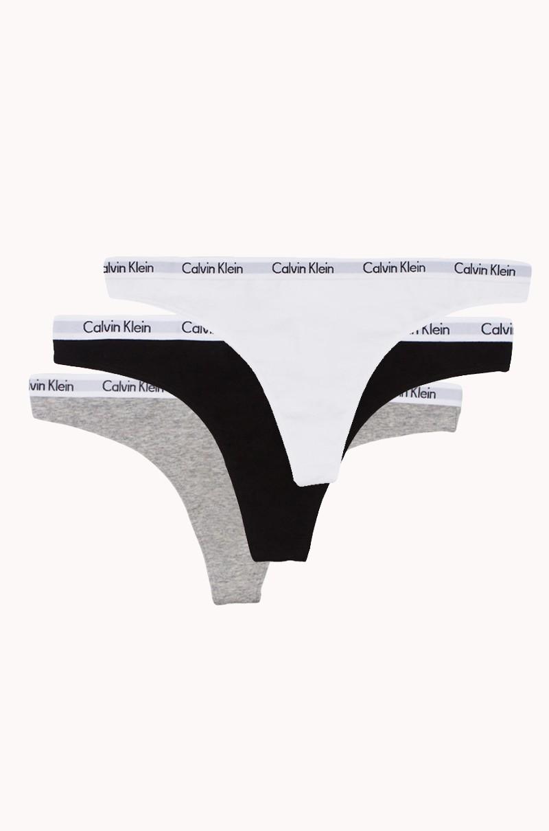 a50116773121 Calvin Klein Sporty Thong Underwear Set in Black White and Grey