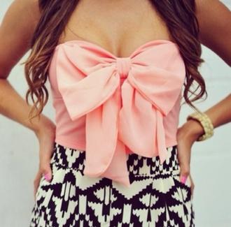 dress aztec nail polish blouse pink black girl shirt bow t-shirt