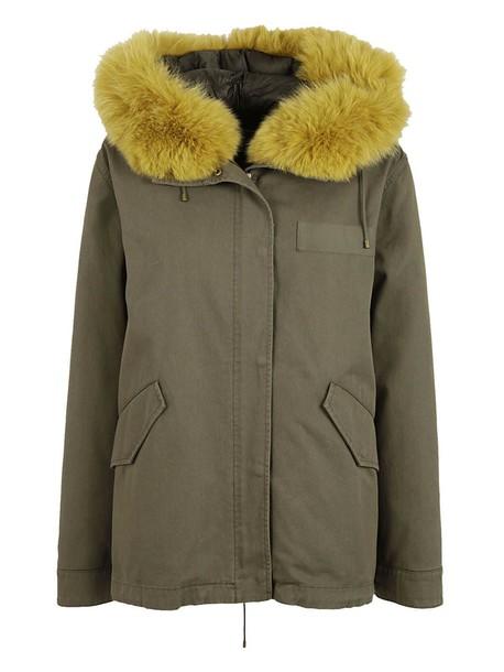 Yves Salomon parka classic green coat