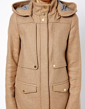 Mango | Mango Hooded Coat at ASOS