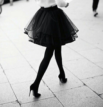 skirt tulle skirt black skirt