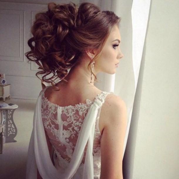 dress wedding dress elegance skater skirt crop tops