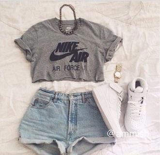 nike air grey t-shirt