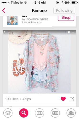 cardigan kimono floral kimono cute summer outfits summer style