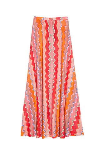 skirt maxi skirt maxi knit orange