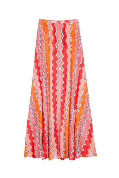 Missoni skirt maxi skirt maxi knit orange