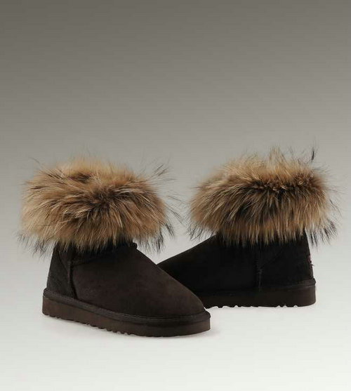 ugg fox fur mini 5854 boots