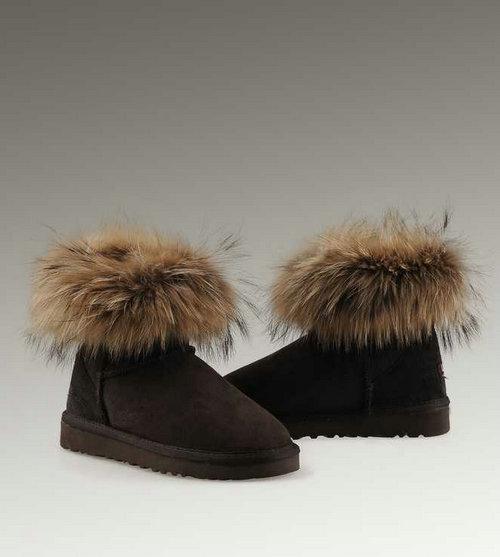 ugg fox fur mini 5854 boots On ugg fourrure exterieur