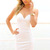 White Strapless Dress - White Strapless Bodycon Mini Dress | UsTrendy