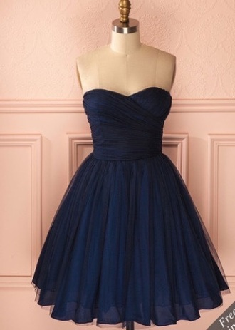 dress prom dress short dress mini dress blue dress black dress strapless