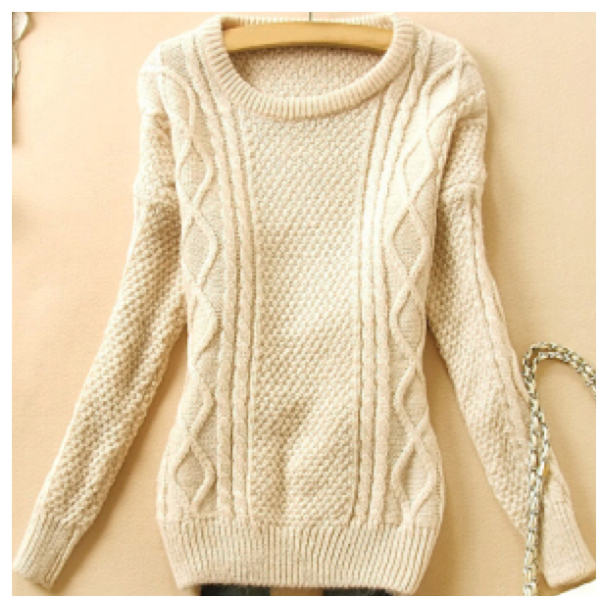 Cute cable knit sweater from doublelw on storenvy