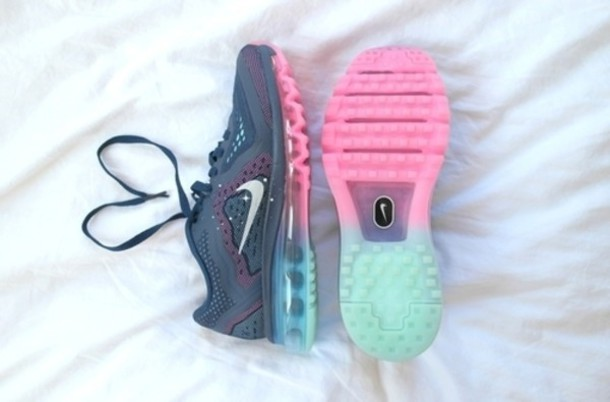 Nike Pink And Green Running Shoes Shoes Dark Blue Pink Mint Nike