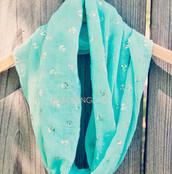 scarf,infinity scarf,anchor print,blue,nautical,layer,spring,summer,beach,coastal,pretty,girly