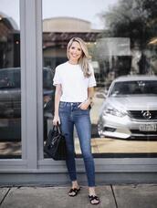 krystal schlegel,blogger,top,sunglasses,bag,t-shirt,dress,white t-shirt,spring outfits,handbag,skinny jeans