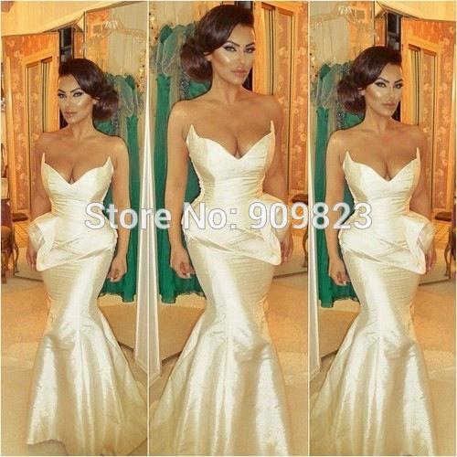 686e562179b49 Aliexpress.com : Buy Michael Costello V Neck Ruffles Taffeta Mermaid Sexy  Celebrity Evening Dress Gowns Formal Dress Fashion from Reliable dress up  ...