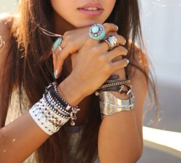 jewels ring necklace boho bohemiam gypsy bracelets