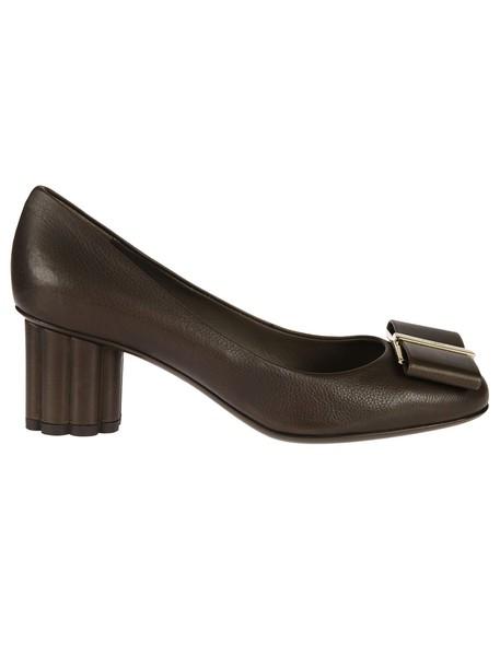 Salvatore Ferragamo heel pumps green shoes