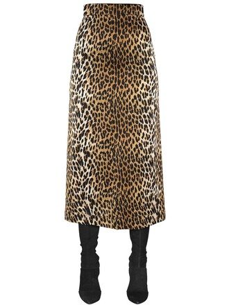 skirt high waisted high silk satin