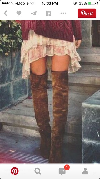 shoes high boots brown shoes