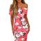 Floral bardot bodycion dress